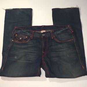 True Religion men's straight blue jeans size 36